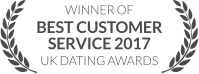 WINNER: Best Customer Service 2017, UK Dating Awards