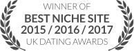 WINNER: Best Niche Site 2015/2016/2017, UK Dating Awards