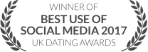 WINNER: Best Use of Social Media 2017, UK Dating Awards