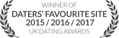 WINNER: Dater's Favourite Site 2015/2016/2017, UK Dating Awards