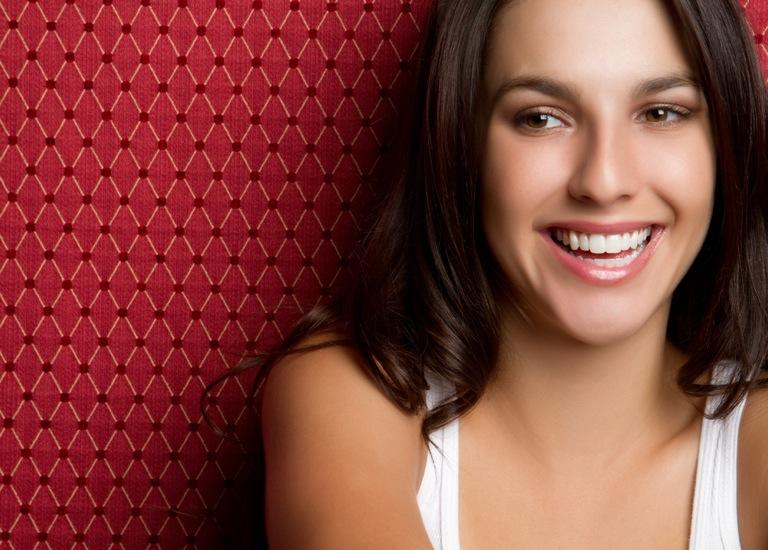 pretty smiling single woman