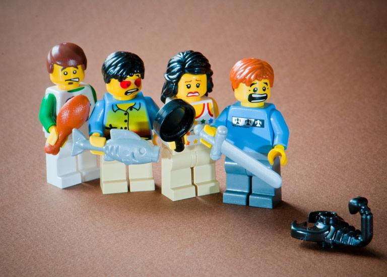 Cautious Lego men