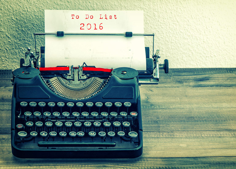 To do list for 2016