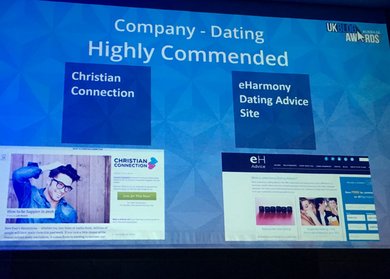 UK Blog Awards Dating Highly Commended