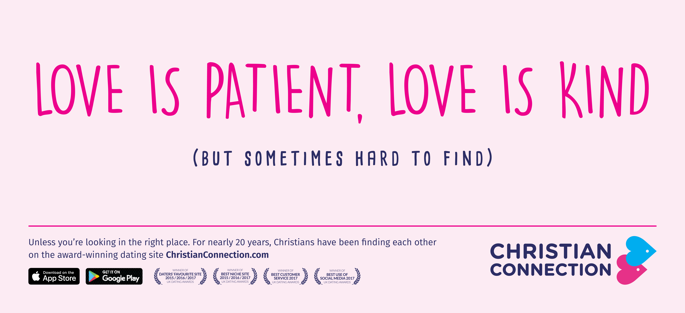Christian Connection advert - Love is patient