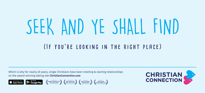 Christian Connection advert - Seek and ye shall find