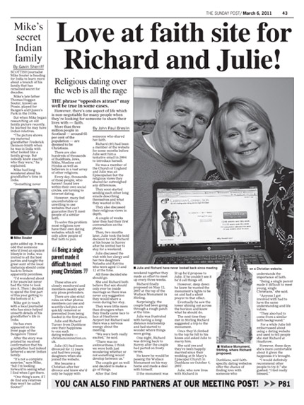 Sunday Post Article March 2011