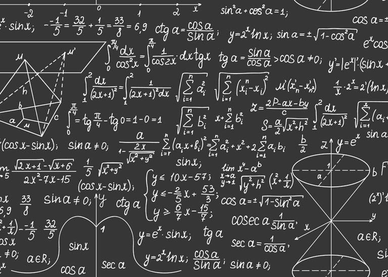 Formula's on a blackboard
