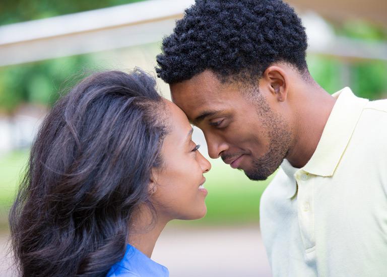 A face-to-face couple