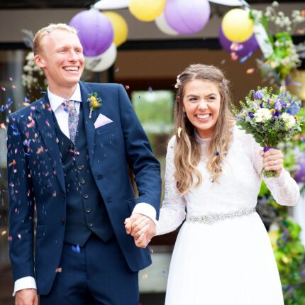 Hollie and Tim's wedding day
