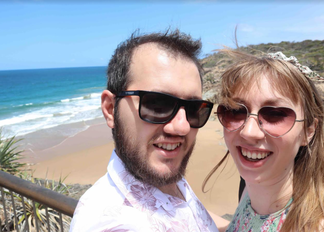 Callam and Rachel met on Christian Connection - I was too scared to message